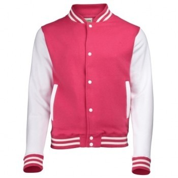 Baseball Vest dames-Roze-XL