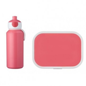 Mepal lunchbox met pop-up drinkfles-Roze
